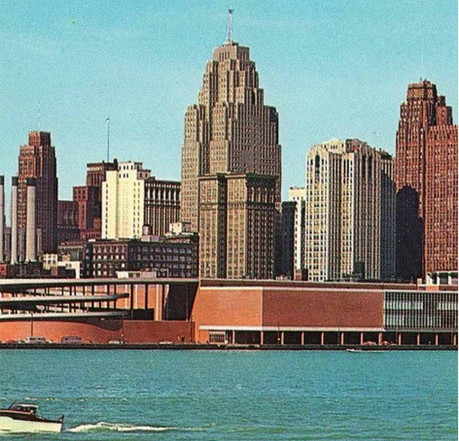 In 1971, 12 African American architects founded NOMA at the Detroit's Cobb Center. (Hiawatha Postcards)