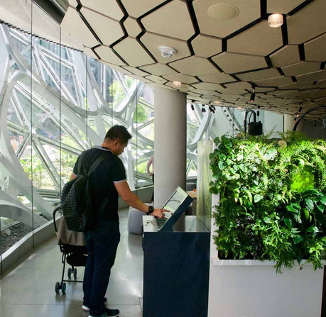"""""""Understory"""" interpretive center at the Amazon Spheres (Photo by Dennis Haskell)"""