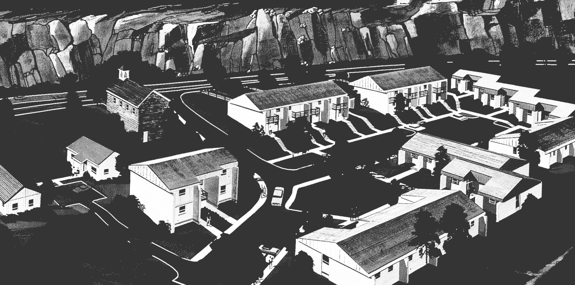 Working in eastern Kentucky, Cram led efforts to build 100 units of affordable prototype housing. (AIA Archives)