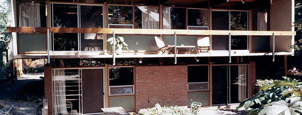 Coles' home in Buffalo, built 1961 (Courtesy of the architect)