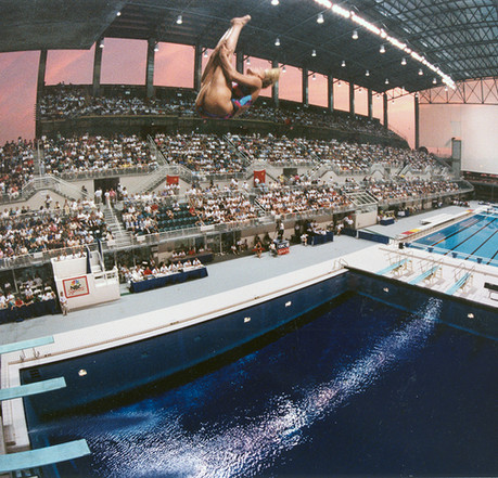 Olympics Aquatic Center at the Georgia Institute of Technology, 1996 (Courtesy of the architect)