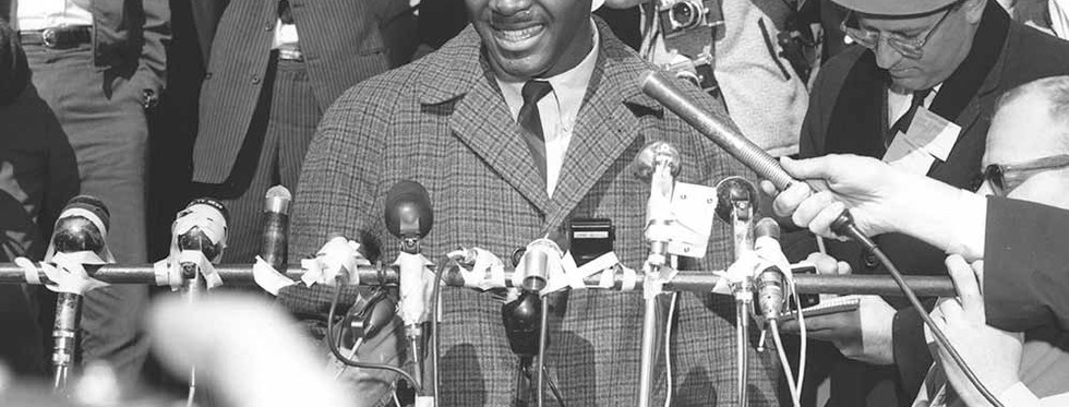 Speaking to press after becoming the first African American student at Clemson University, Gantt spent his career pushing for responsible design. (Clemson University Archives)