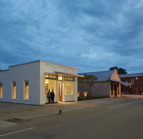 In 2013, students with Rural Studio repurposed an old bank to serve as a library and community center for citizens of Newbern, Alabama. (Timothy Hursley/Rural Studio)