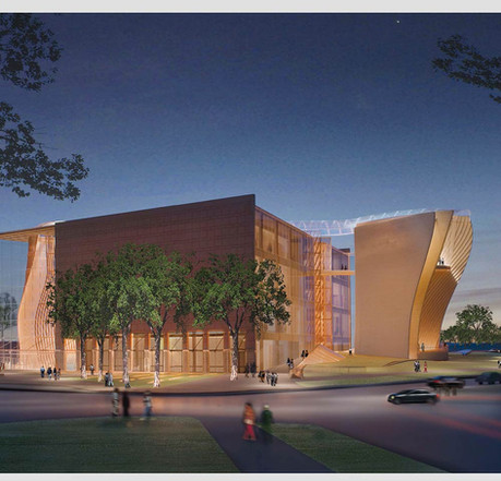 Partnering with Moshe Safdie, FAIA, Britt designed one of the six final proposals for the National Museum of African American History and Culture. (Courtesy of the architect)