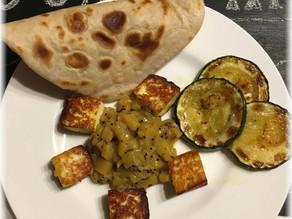 Paneer mit Mangochutney und Chapati