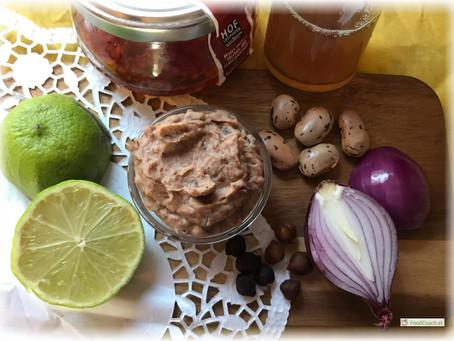 Bohnenaufstrich mit Röstzwiebeln (vegan)