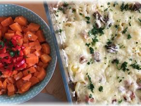 Sauerkrautauflauf mit Karottensalat