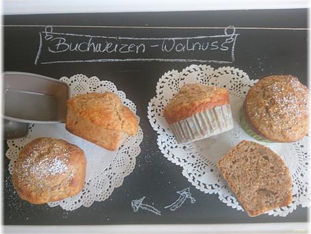 Remember on baking day: Buchweizen-Dinkel-Muffins mit …Apfel