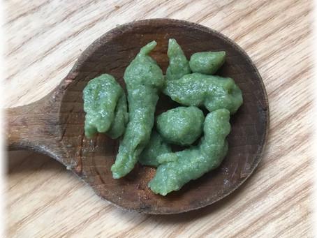 Bärlauch-Eierspätzle mit Sauerkraut