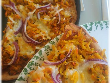 Herbstlich: Pizza mit Kürbis