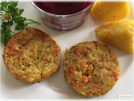 Glutenfrei – Reispuffer mit Polentaschnitten und Salat