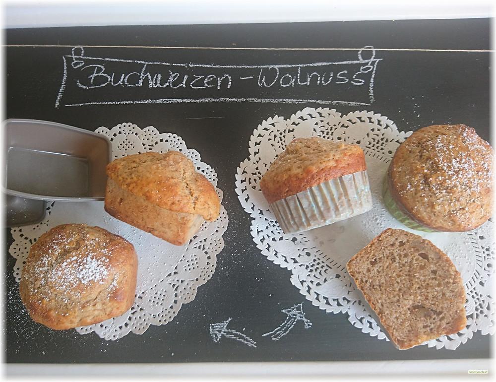 Buchweizen Dinkel Walnuss Muffins