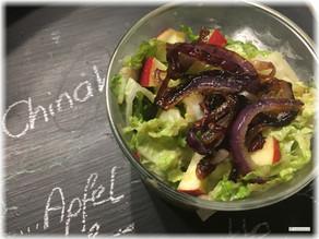 Chinakohlsalat mit Apfel-Senf-Vinaigrette