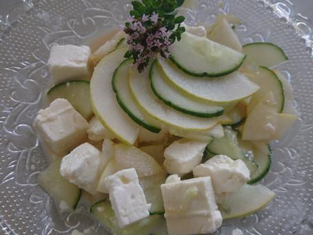 Für heiße Tage – Gurke mit Birne und Feta