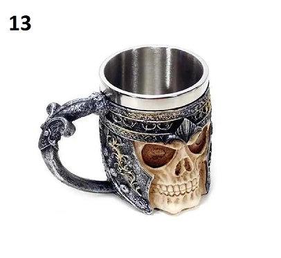 Caneca chopp viking medieval cerveja inox 350ml por fora é resina 3d