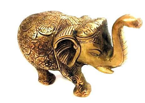Elefante Cobre Puro Maciço Indiano Feito A Mão