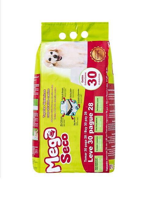 Mega Seco Tapete Higiênico para Cães 30 Unidades