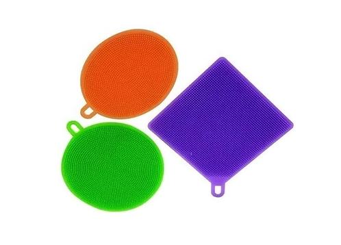 Jogo Esponja De Silicone Com 3 Peças