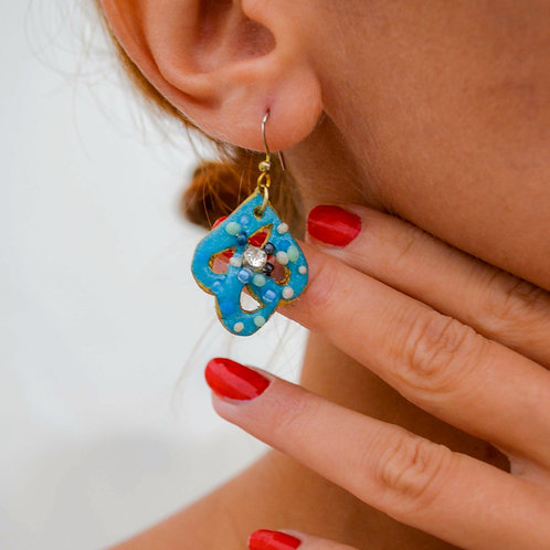 Teardrop Aquablue Earrings
