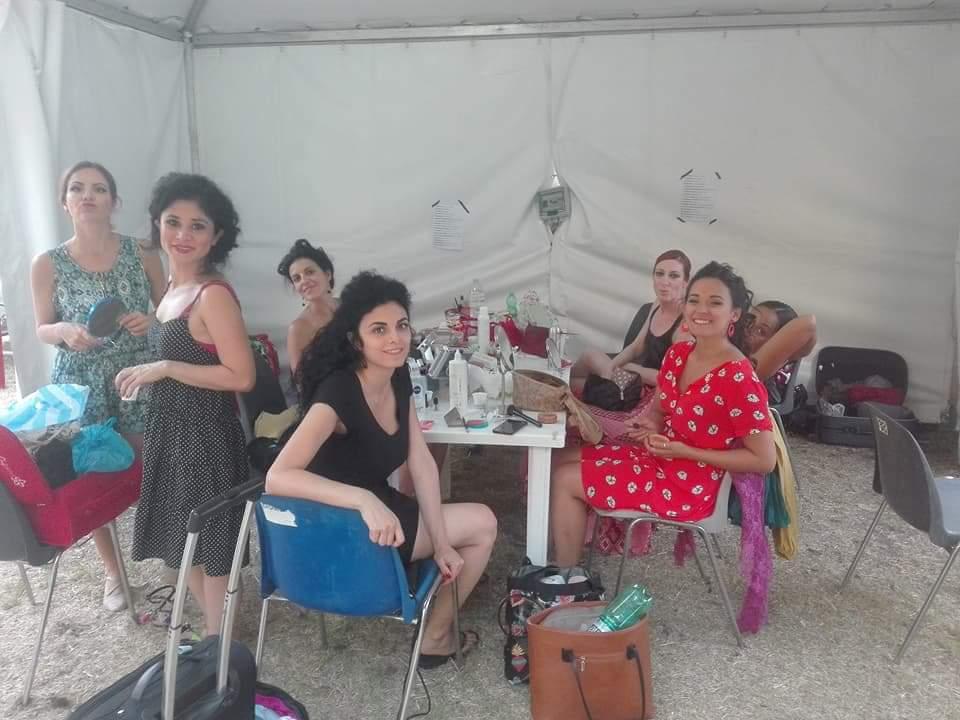 Backstage delle Amirat