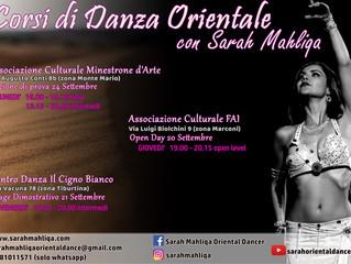 Nuovi Corsi di Danza Orientale a Viale Marconi, Tiburtina e Monte Mario