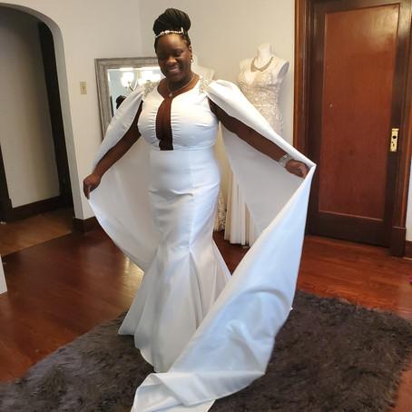 Making a Regal Wedding Dress