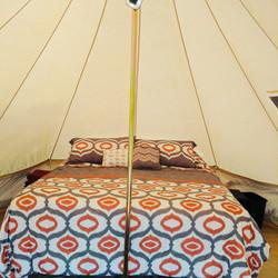 Inside of tent orange