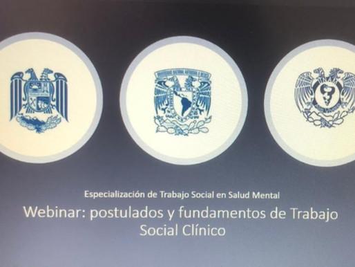 Directora del IChTSC participa en Webinar organizado por la UNAM sobre Trabajo Social Clínico
