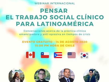 Histórico Webinar Internacional sobre Trabajo Social Clínico en Latinoamérica reunió a varios países