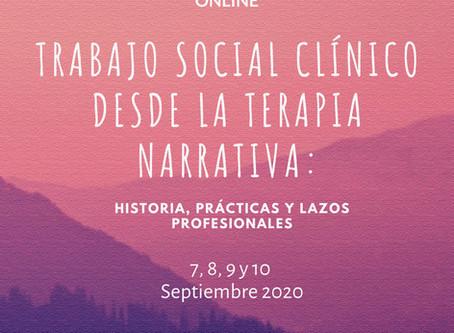 Exitoso III Curso Internacional sobre Trabajo Social Clínico desde la Terapia Narrativa.