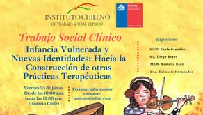 Se realiza histórico Webinar sobre Trabajo Social Clínico e Infancia Vulnerada entre IChTSC y SENAME