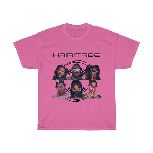 "Bubblegum Pink ""Hairitage Assemble"" Tee"