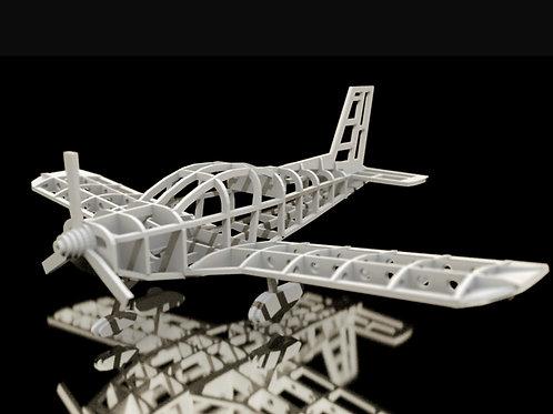 ZLIN Z-242 FRAME MODEL (ESC 164) (NO 3D PRINT, CNC ROUTING)