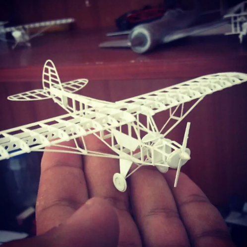 PIPER CUB FRAME MODEL (ESC 164) (NO 3D PRINT, CNC ROUTING)