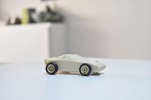 SPORTER WOOD TOY CAR. EASY TO PRINT