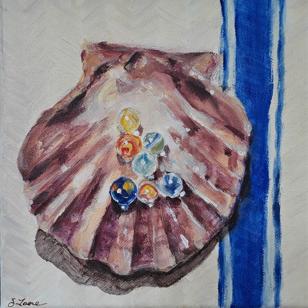Shell and Marbles - For more information, see Still Life page.