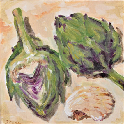 Artichoke and shells