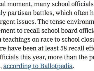 Huge national trend: Partisan attacks on school committees.