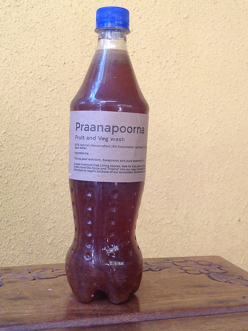 PraanaPoorna Fruit and Veg Wash 750ml