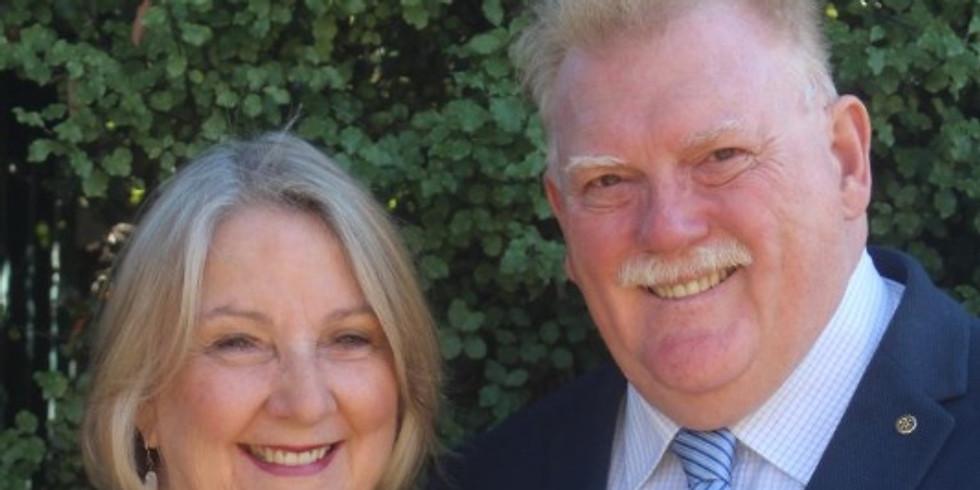 RCM Club Meeting - D9810 District Governor Visit - Dr Daryl and Jenny Moran