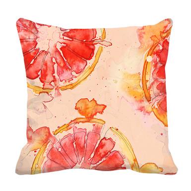 Red Grapefruit Cushion