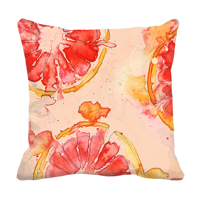 Red Grapefruit Cushion