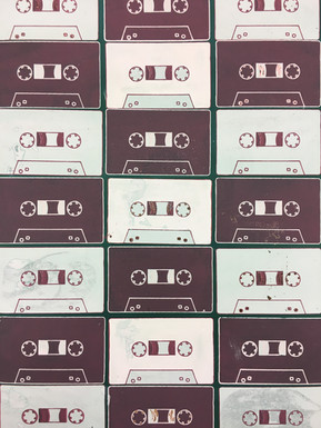 Screen Printed Casette Tapes