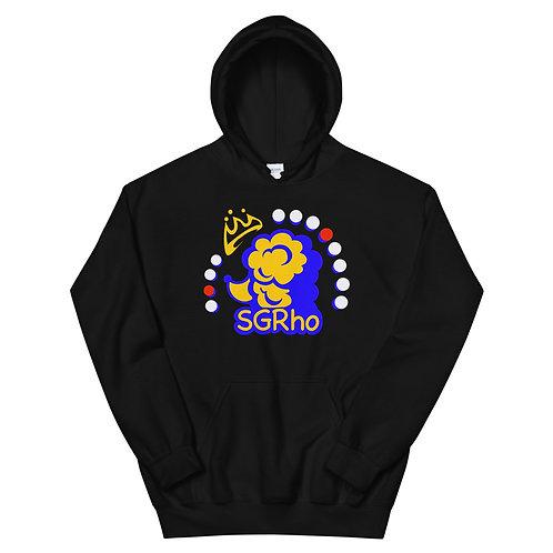 SGRho Crown Poodle Black Hoodie