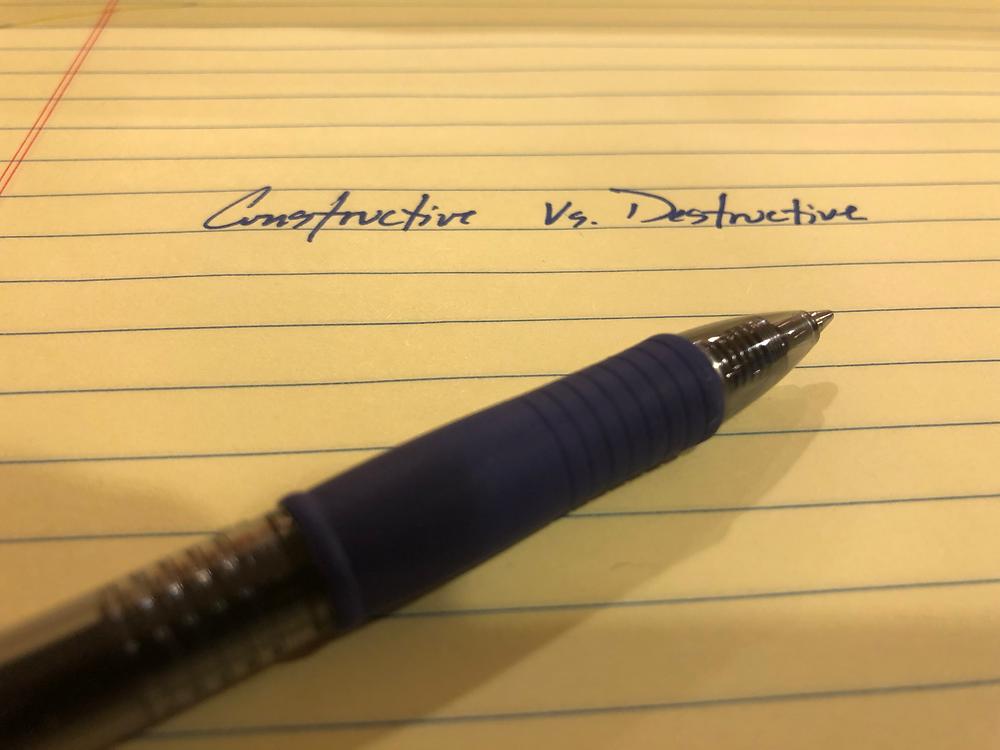 Constructive versus Destructive