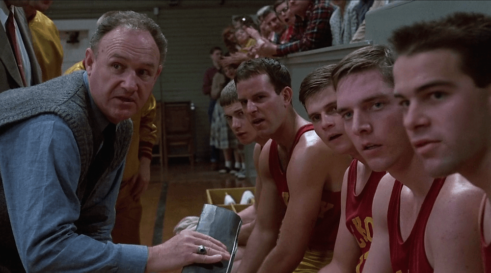Hoosiers movie - Huskers team - Gene Hackman