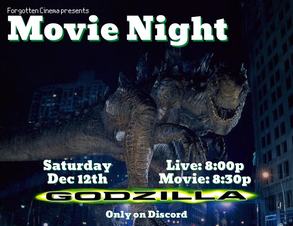 Movie Night - Forgotten Cinema - Godzilla (1998)