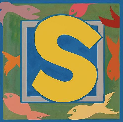S Alphabet Letter Print
