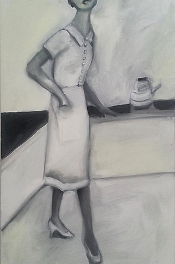 Retro Housewife Painting