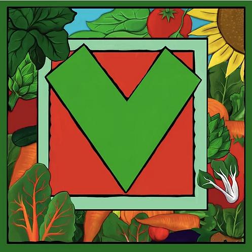 V Alphabet Letter Print